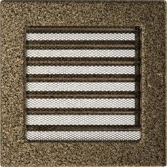 фото Решетка черно-золотая 17х17 жалюзи
