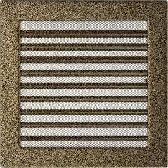 фото Решетка черно-золотая 22х22 жалюзи