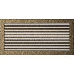 фото Решетка черно-золотая 22х45 жалюзи