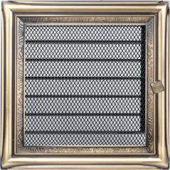 Вентиляционная решетка KRATKI рустикальная 17х17 жалюзи