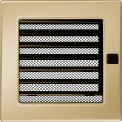 Вентиляционная решетка KRATKI позолота 17Х17 жалюзи