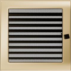 Вентиляционная решетка KRATKI позолота 22Х22 жалюзи