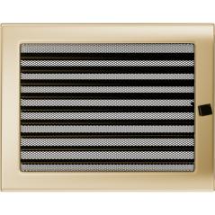 Вентиляционная решетка KRATKI позолота 22Х30 жалюзи