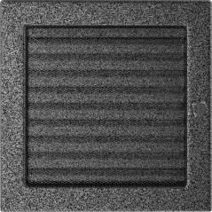 фото Решетка черно-серебряная 22x22 жалюзи
