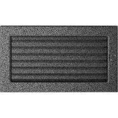 фото Решетка черно-серебряная 17x30 жалюзи