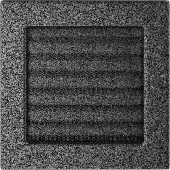 фото Решетка черно-серебряная 17x17 жалюзи