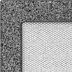 фото Решетка черно-серебряная 22x22