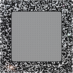 фото Решетка Venus с кристаллами Swarovski черно-серебряная 17x17