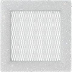 Вентиляционная решетка KRATKI Venus с кристаллами Swarovski белая 17х17