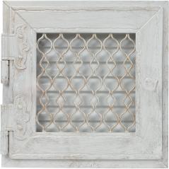 Вентиляционная решетка KRATKI Retro белая античная 22х22 выдвижная