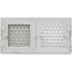 Вентиляционная решетка KRATKI Retro двойная белая античная 22х44