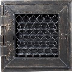 Вентиляционная решетка KRATKI Retro графитовая античная 22х22