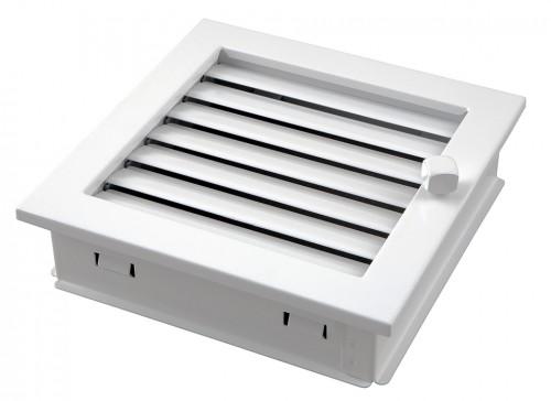 Вентиляционная решетка MODERN белая 20х20 жалюзи