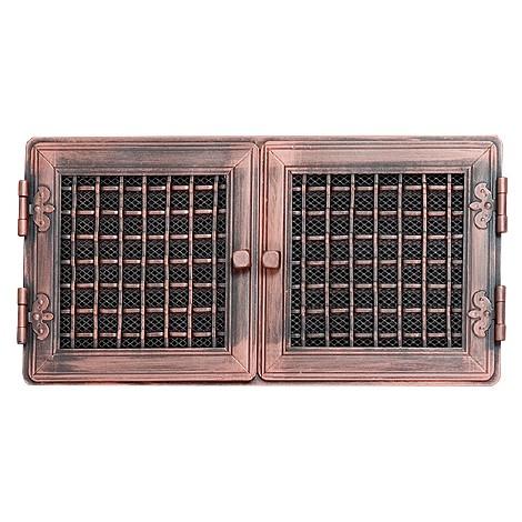 Вентиляционная решетка STYLOWA медная патина 21х43 жалюзи