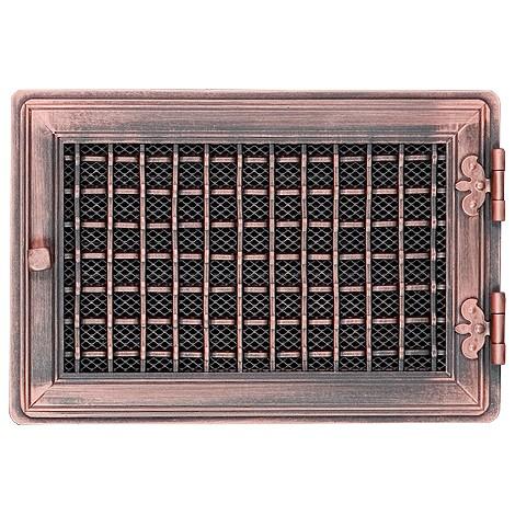Вентиляционная решетка STYLOWA медная патина 21х32 жалюзи