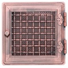 Вентиляционная решетка STYLOWA медная патина 21х21 жалюзи