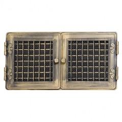 Вентиляционная решетка STYLOWA золотая патина 21х43 жалюзи