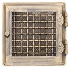 фото Решетка STYLOWA золотая патина 21х21