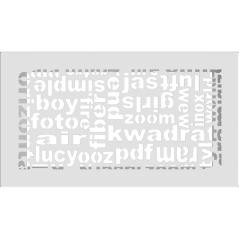 Вентиляционная решетка KRATKI ABC белая 17x30