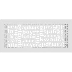 Вентиляционная решетка KRATKI ABC белая 17x37