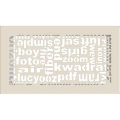 Вентиляционная решетка KRATKI ABC кремовая 17x30