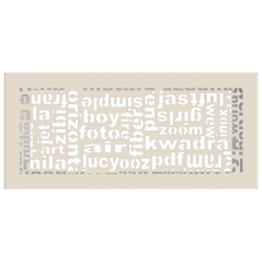 Вентиляционная решетка KRATKI ABC кремовая 17x37
