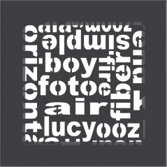 фото Решетка ABC графитовая 17x17