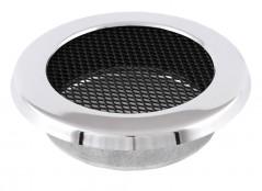 Вентиляционная решетка круглая хром Ø125