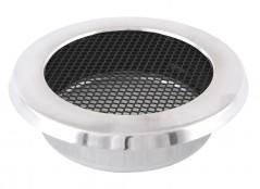 Вентиляционная решетка круглая хром шлифованный Ø100