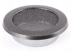 Вентиляционная решетка круглая старое серебро Ø100