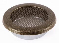 Вентиляционная решетка круглая старое золото Ø160