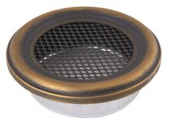 Вентиляционная решетка круглая золотая патина Ø125