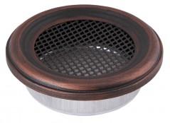 Вентиляционная решетка круглая медная патина Ø160