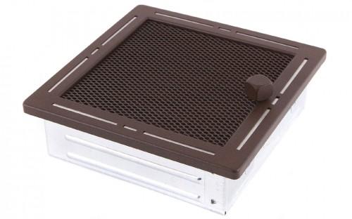 Вентиляционная решетка TREND бронза brokatowy 16х16 жалюзи
