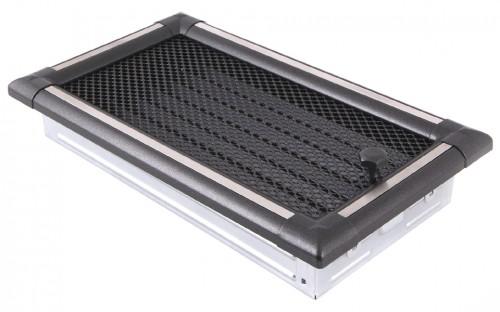 Вентиляционная решетка EXCLUSIVE графит/нержавейка 16х32 жалюзи