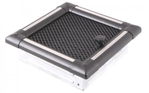 Вентиляционная решетка EXCLUSIVE графит/нержавейка 16х16 жалюзи
