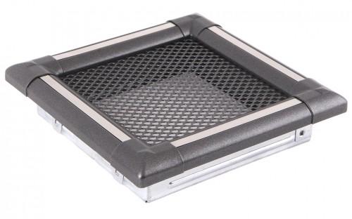 Вентиляционная решетка EXCLUSIVE графит/нержавейка 16х16