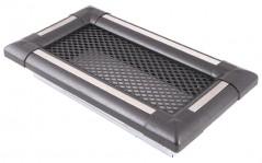 Вентиляционная решетка EXCLUSIVE графит/нержавейка 10х20
