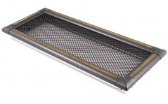 Вентиляционная решетка EXCLUSIVE графит/латунь патина 16х45