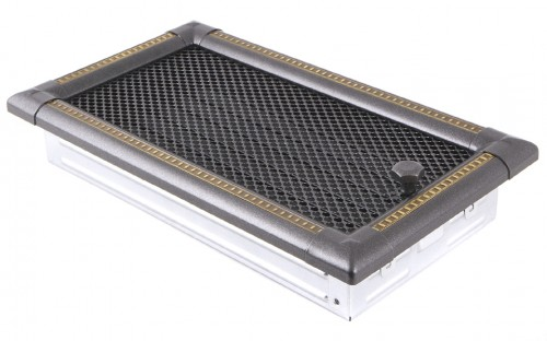 Вентиляционная решетка EXCLUSIVE графит/латунь патина 16х32 жалюзи