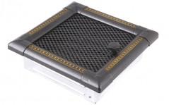Вентиляционная решетка EXCLUSIVE графит/латунь патина 16х16 жалюзи
