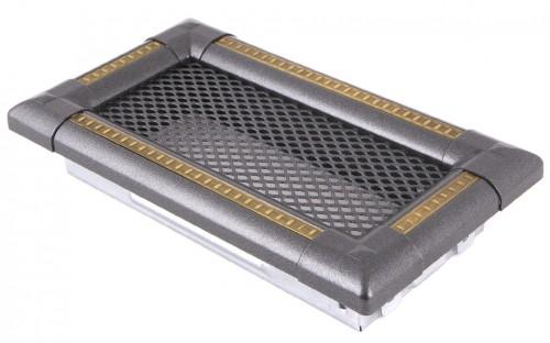 Вентиляционная решетка EXCLUSIVE графит/латунь патина 10х20