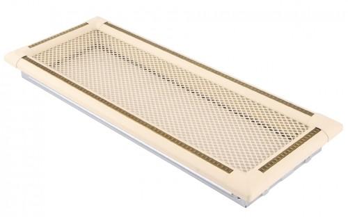 Вентиляционная решетка EXCLUSIVE слоновая кость/латунь патина 16х45