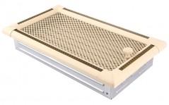 Вентиляционная решетка EXCLUSIVE слоновая кость/латунь патина 16х32 жалюзи