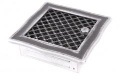 Вентиляционная решетка DECO серебряная патина 16х16 жалюзи