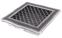 Вентиляционная решетка DECO серебряная патина 16х16