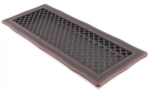Вентиляционная решетка DECO медная патина 16х45