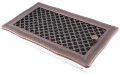 Вентиляционная решетка DECO медная патина 16х32 жалюзи