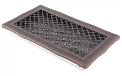 Вентиляционная решетка DECO медная патина 16х32