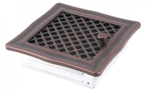 Вентиляционная решетка DECO медная патина 16х16 жалюзи